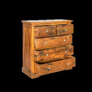 Cassettiera in legno di teak 5 cassetti