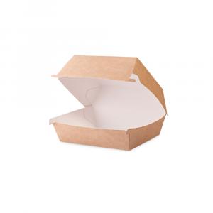 Contenitore panino medio in cartoncino bio 11,5x10,5x8 cm avana