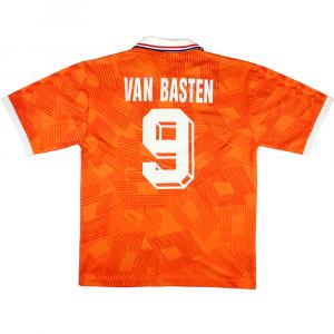 1992 Olanda Maglia Van Basten #9 Home L (Top)