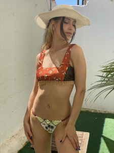 Bikini Top e slip Brasiliano fisso Desert Effek