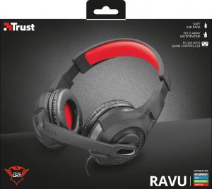Trust GXT 307 RAVU Cuffia Padiglione auricolare Connettore 3.5 mm Nero, Rosso