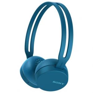 Sony WH-CH400L Cuffia Padiglione auricolare Micro-USB Bluetooth Blu