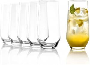 Set di 6 bicchieri in vetro da acqua e long drink serie Revolution ml 390