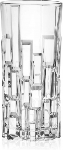 Set 6 bicchieri in vetro cristallino long drink, Etna cl 34