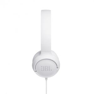 JBL Tune 500 Cuffia Padiglione auricolare Connettore 3.5 mm Bianco