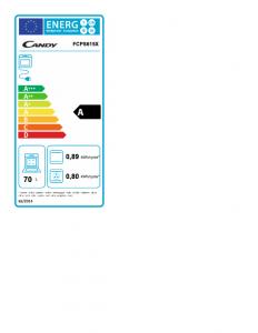 Candy Smart Steam FCPS615X 70 L A Acciaio inossidabile