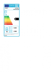 Candy Timeless FCP815X E0/E 70 L A+ Acciaio inossidabile