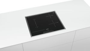 Bosch Serie 6 PVS645FB5E piano cottura Nero, Acciaio inossidabile Da incasso 60 cm A induzione 4 Fornello(i)