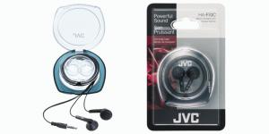 JVC Ear Bud Headphone Cuffie Auricolare Connettore 3.5 mm Nero