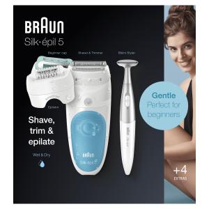 Braun Silk-épil 5 Wet&Dry Silk-épil 5 5-810, Epilatore Elettrico Donna Per Un'Epilazione Delicata