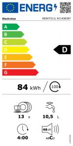 Electrolux EES47311L lavastoviglie A scomparsa totale 13 coperti D