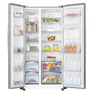 Hisense RS741 frigorifero side-by-side Libera installazione 562 L Acciaio inossidabile
