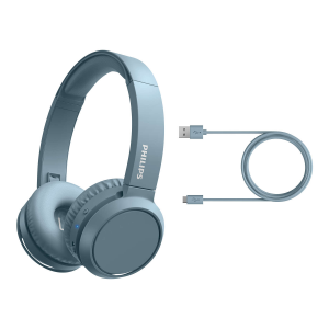 Philips 4000 series TAH4205BL/00 cuffia e auricolare Padiglione auricolare USB tipo-C Bluetooth Blu