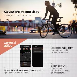 Samsung Galaxy Buds Live, Mystic Black Cuffia Auricolare Nero