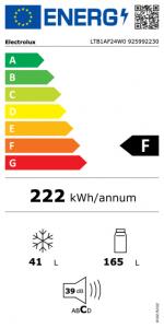 Electrolux LTB1AF24W0 frigorifero 2 porte 234lt h144 bianco