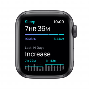Apple Watch SE GPS, 40mm in alluminio grigio siderale con cinturino Sport Nero