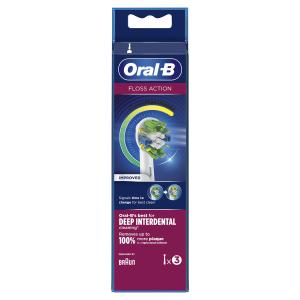 Oral-B FlossAction Testine Di Ricambio (Confezione Da 3 Pezzi) Con Tecnologia CleanMaximiser