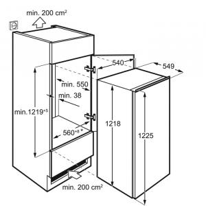 Electrolux LRB3AF12S frigorifero Da incasso 207 L F Bianco
