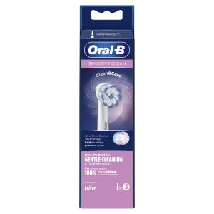 Oral-B Sensitive Clean Testine Di Ricambio, Confezione 3 Pezzi