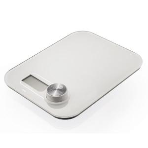 Macom Bilancia da cucina elettronica con funzionamento senza batterie Bianco Superficie piana Rettangolo