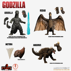 *PREORDER* Godzilla: Destroy All Monsters 5 Points XL: DELUXE BOX SET ROUND 1 by Mezco Toys