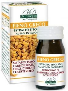 DR. GIORGINI FIENO GRECO ESTRATTO TITOLATO AL 50% IN SAPONINE 60 PASTIGLIE - FAVORISCE DIGESTIONE E CONTROLLO COLESTEROLO