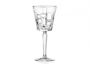 Set di 6 calici vino Etna in vetro cristallino trasparente cl 20