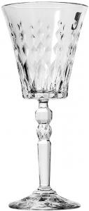 Set di 6 calici da acqua Marylin in vetro cristallino trasparente cl 26