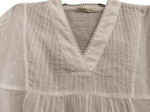 camicia donna bianca | in cotone | scollo a V | made in Italy