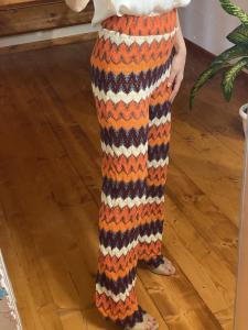 Pantalone Tensione In con ricami in cotone traforato Taglia M