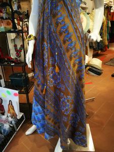Abito etnico senza maniche lungo | Abbigliamento estate etnico online