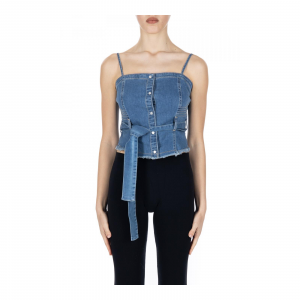 TOP BUSTINO IN DENIM