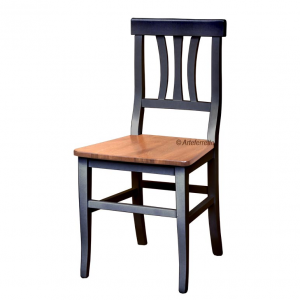Traditional two-tone chair