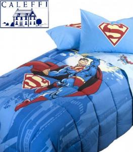 Trapunta, piumone invernale. Disney CALEFFI - SUPERMAN ENERGY. Singolo, 1 piazza