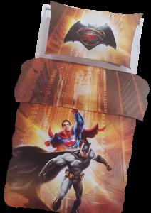 Trapunta piumone invernale digitale Cotone 100% CALEFFI Batman Superman Singolo