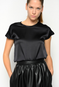 SHOPPING ON LINE PINKO BLUSA IN SATIN STRETCH FARISA 18 NEW COLLECTION WOMEN'S SPRING SUMMER 2021