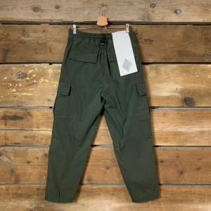 Pantalone Amish Cargo Uomo Popeline Army Green