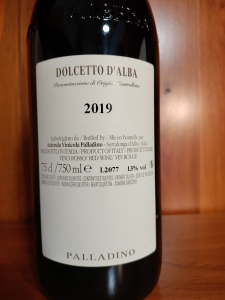 Dolcetto D'Alba doc 2019 cl.75 - Palladino