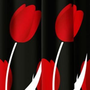TENDA PER DOCCIA 2 LATI IN TESSUTO CM. 180 X 200 Mod. Tulipano Rosso   -