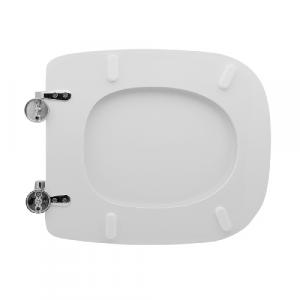 SEDILE WC PER DURAVIT VASO D-CODE                                      Bianco - Cerniere C espansione