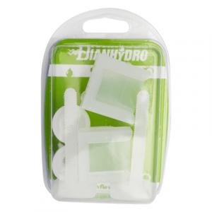 COPPIA SUPPORTI PER SEDILI IN PVC CON VITI IN PLASTICA BLISTER         Bianco