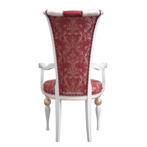 Eleganter Stuhl mit Armlehnen Stil Deco