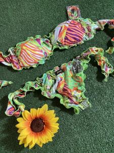 Bikini fascia e slip nodi brasiliano regolabile Frou Frou Roam Effek