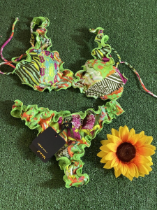 Bikini triangolo e slip americano frou frou Roam Effek Taglia LG