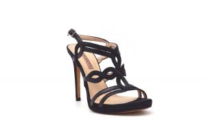 Sandalo elegante pelle e glitter