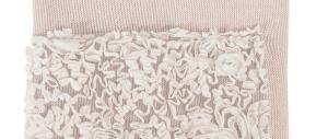 Copertina per culla in lana lavorata linea Luxury Flora Picci