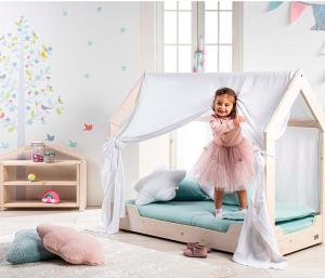 Lettino Montessori con Velo linea Liberty Star by Picci