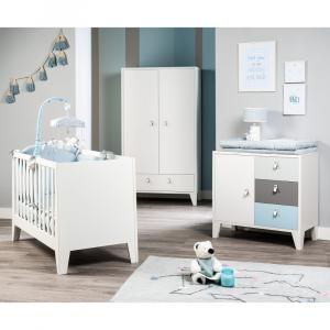Set Paracolpi e Piumetto collezione Astrid by Picci | Azzurro | Orso Pinguino