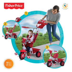 Triciclo Royal 3 in 1 by Fhisher Price | Rosso
