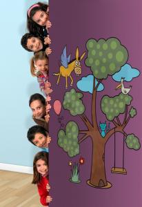 Adesivo murale cameretta L'albero magico by Wall skin